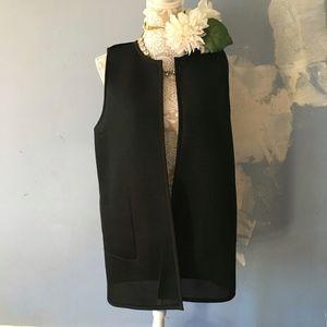 Lafayette 148 // Black Perforated Reversible Vest